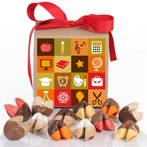Class Act Dazzle Dozen Gift Box of a dozen assorted fortune cookies for teachers