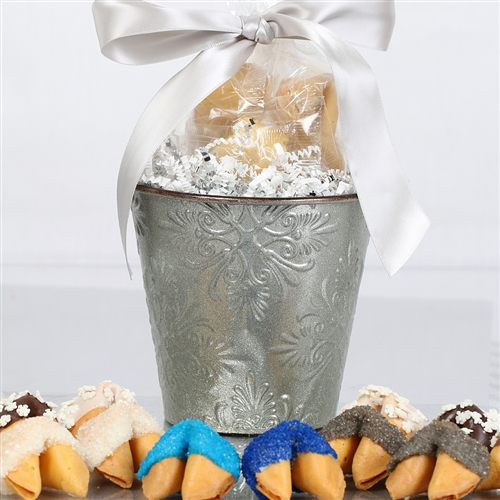 Share good fortune throughout the holiday season with these vanilla fortune cookies dipped and decorated for the frosty air.