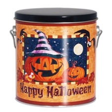 This happy halloween gift tin is stuffed with lots of good fortunes and a variety of our gourmet fortune cookies.