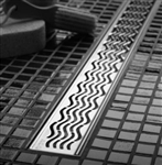 QuARTz Plus Linear Drain - Wavy Design Grate