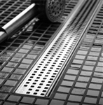 QuARTz Plus Linear Drain - Square Design Grate