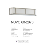 Nuvo Lighting 60-2873 Odeon 3-Light Wall Sconce with Satin White Glass
