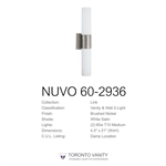 Nuvo Lighting 60-2936 Link 2-Light (Vertical) Tube Wall Sconce with White Glass