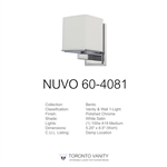 Nuvo Lighting 60-4081 Bento 1-Light Vanity Fixture with Satin White Glass