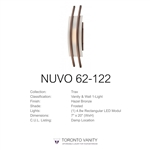 Nuvo 62-122 Trax 1-Light Wall Mounted LED Wall Sconce with Frosted Glass in Hazel Bronze Finish