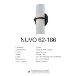 Nuvo 62-186 Tucker 1-Light Wall Mounted LED Wall Sconce in Aged Bronze Finish