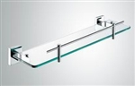 Aqua SQUADRA Glass Shelf - Chrome
