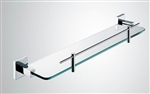 Aqua PIAZZA Glass Shelf - Chrome