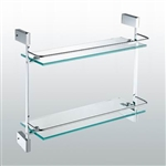 Aqua FINO Double Glass Shelf - Chrome