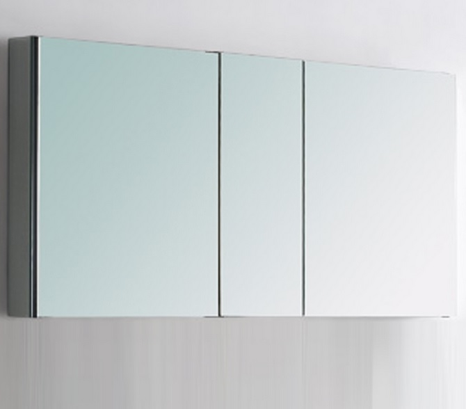 Kubebath 50 Wide Bathroom Medicine Cabinet W Mirrors