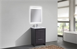 KubeBath Dolce 24″ Gray Oak Modern Bathroom Vanity