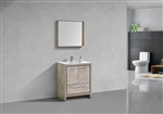KubeBath Dolce 30″ Nature Wood Modern Bathroom Vanity