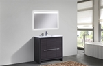 KubeBath Dolce 36″ Gray Oak Modern Bathroom Vanity
