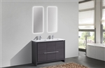 KubeBath Dolce 48'' Double Sink Gray Oak Modern Bathroom Vanity