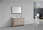 Dolce 48″ Nature Wood Modern Bathroom Vanity