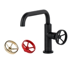 Aqua Loft Single Lever Bathroom Vanity Faucet - Black