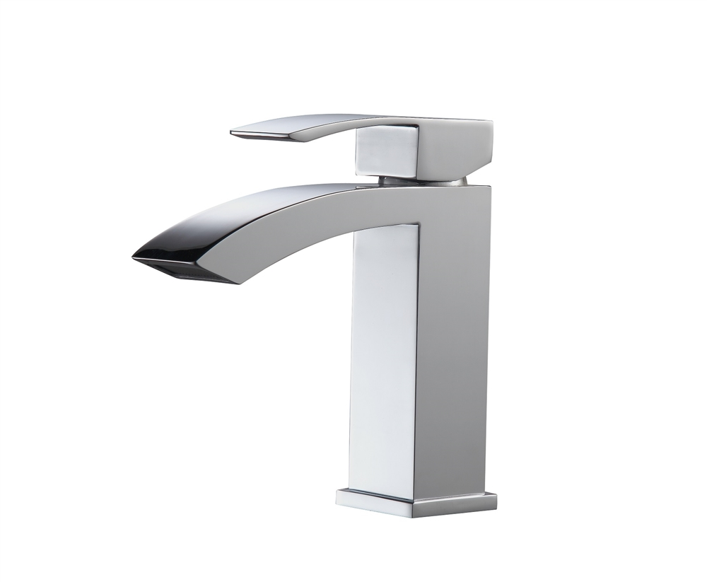 7 Faucet Finishes For Fabulous Bathrooms: Aqua Balzo Single Lever Wide Spread Bathroom Vanity Faucet