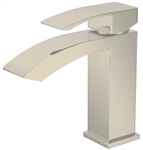 Aqua Balzo Single Lever Wide Spread Bathroom Vanity Faucet - Brush Nickel