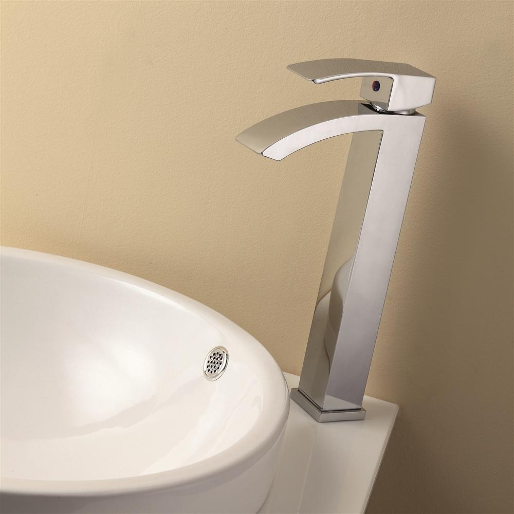 Aqua Balzo Wide Spread Bathroom Vessel Sink Faucet Chrome