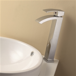 Aqua Balzo Wide Spread Bathroom Vessel Sink Faucet - Chrome