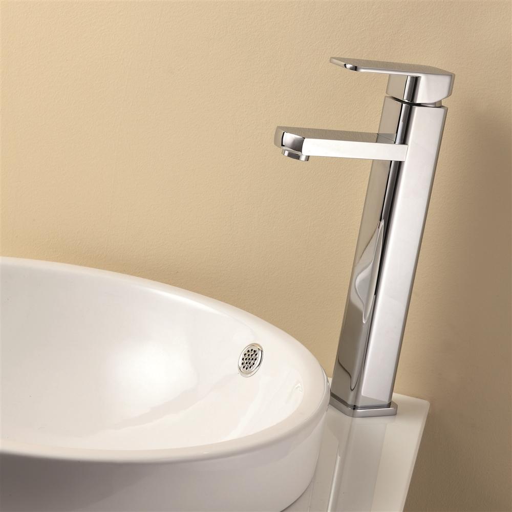 Aqua Soho Single Lever Bathroom Vessel Sink Faucet - Chrome