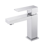 Aqua  Single Lever Bathroom Vanity Faucet - Chrome