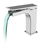 Aqua Cascata Single Lever Bathroom Vanity Faucet - Chrome