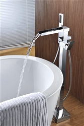 Aqua WaterfallFloor Mounted Soker Tub Faucet - Chrome
