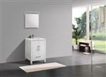 "Anziano 24"" High Gloss White Vanity"