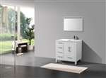 "Anziano 36"" Gloss White Vanity Set"
