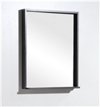 "Bliss 22"" Wide Mirror w/ Shelf - High Gloss Gray Oak"