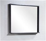 "Bliss 34"" Wide Mirror w/ Shelf - High Gloss Gray Oak"