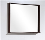 "Bliss 34"" Wide Mirror w/ Shelf - Walnut"