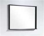 "Bliss 38"" Wide Mirror w/ Shelf - Black"