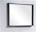 "Bliss 38"" Wide Mirror w/ Shelf - High Gloss Gray Oak"