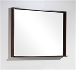 "Bliss 38"" Wide Mirror w/ Shelf - Walnut"