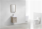 Bliss 16'' Nature Wood Wall Mounted Modern Bathroom Vanity