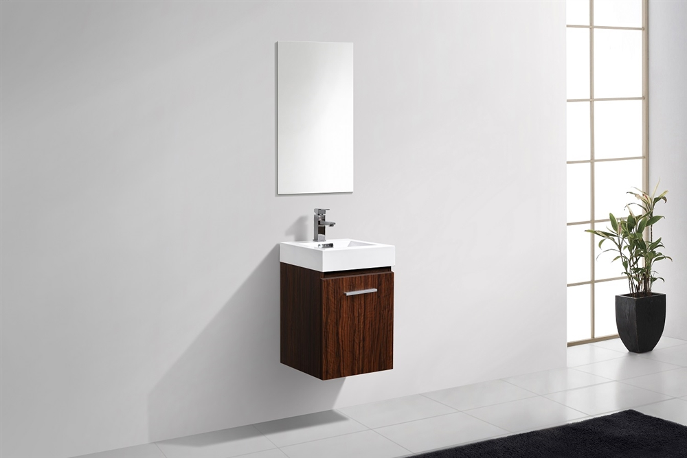 16 bathroom vanity 16 inch alternative views bliss 16 walnut wall mounted modern bathroom vanity