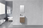 Bliss 18'' Butternut Wood Wall Mounted Modern Bathroom Vanity