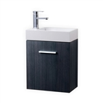 Bliss 18'' Gray Oak Wall Mounted Modern Bathroom Vanity