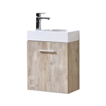 Bliss 18'' Nature Wood Wall Mounted Modern Bathroom Vanity