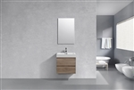 "Bliss 24"" Butternut Wood Modern Bathroom Vanity"