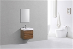 "Bliss 24"" Gloss Chestnut  Modern Bathroom Vanity"