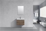 "Bliss 30"" Butternut Wood Wall Mount Modern Bathroom Vanity"
