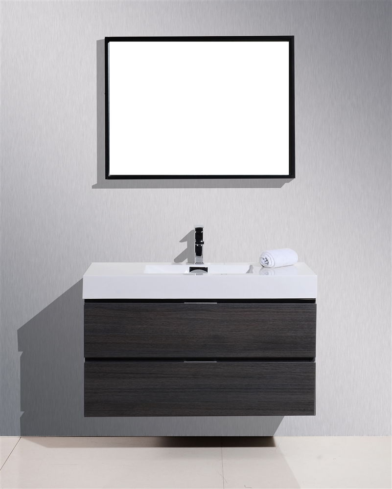 bliss high modern products wall sink kubebath vanity double mount inch bathroom gloss white