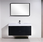 "Bliss 48"" Black Mount  Double Sink Modern Bathroom Vanity"