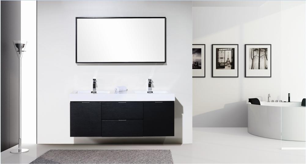 modern bathroom vanity double sink. The Bliss By KubeBath Is One Of The Most Elegant Modern Bathroom Vanities  Vanities Around This 59 Inch Double Sink 60 Wood Black Wall Mount Modern Vanity