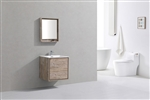 "DeLusso 24"" Nature Wood Wall Mount Modern Bathroom Vanity"