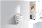Eiffel 30'' High Gloss White Vanity