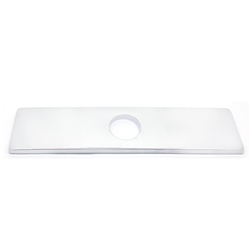 Faucet Hole Cover Deck Plate - Rectangular